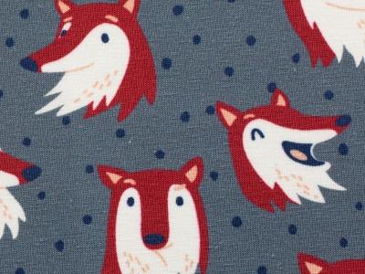 Jersey Fuchs grau dunkelrot by Käselotti