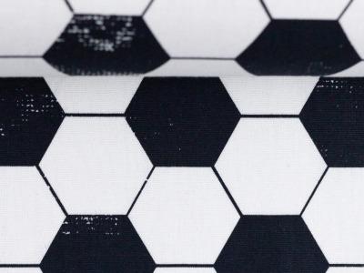 Baumwolle Fußball schwarz weiß Kim Swafing