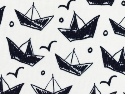 Jersey Schiffe Faltboote schwarz Theo Swafing