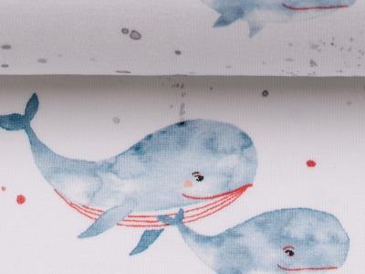 Jersey Wale jeansblau Ocean Breeze Swafing