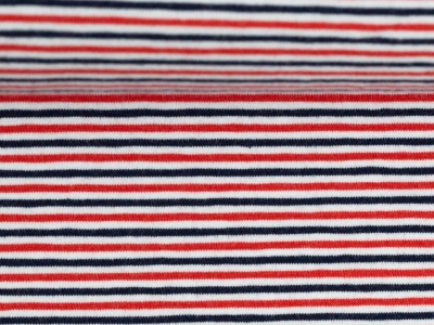 Streifenjersey Ringel maritim rot weiß blau
