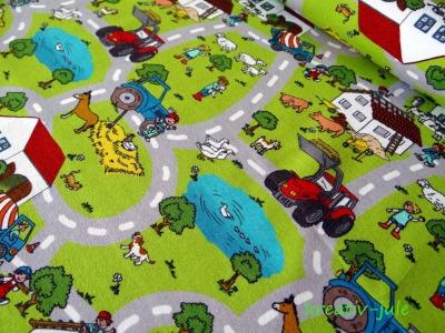 Jersey Trecker Traktor Straßen Bauernhof grün bunt Wimmelbuch