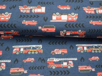 Baumwolljersey Feuerwehr blau - Feuerwehrjersey