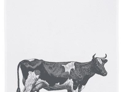 Geschirrtuch weiß Kuh grau Geschirrtuch Bauernhof