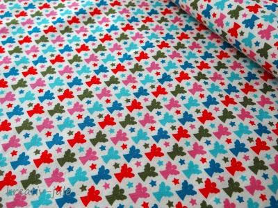 Baumwolle Engel Joyful Schutzengel pink blau