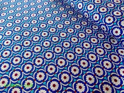 Baumwolle Blumen Betty Butter by Jolijou blau