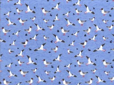 Jersey Seagull Wave by Lila Lotta Möven hellblau