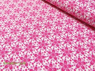 Baumwolle Julia Blume pink - Reststück
