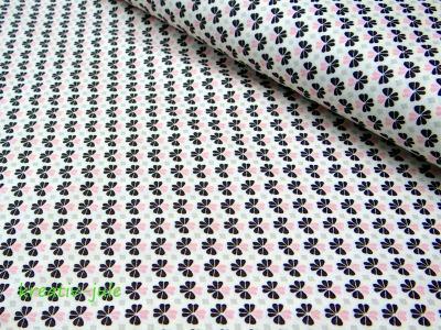 Baumwolle Julia Kleeblatt Klee grau rosa