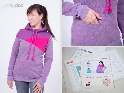 Schnittmuster Nelly Freestyle Hoodie Pattydoo