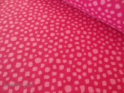 Punkte Jacquard Bündchen Karla pink rosa