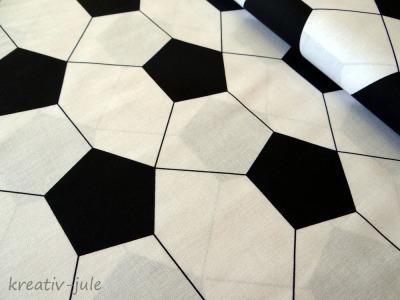 Baumwolle Fußball schwarz weiß