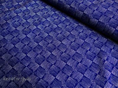 Sommersweat Rick French Terry blau dunkelblau
