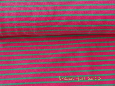 Streifenjersey Kinderstoff rosa grün
