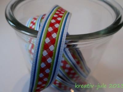 Kar-o-meter Webband Farbenmix rot weiß blau