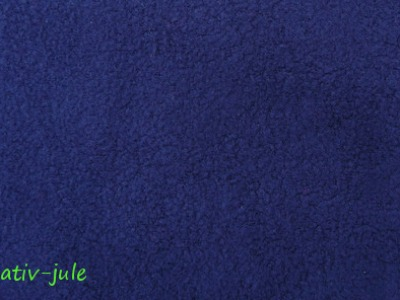 Baumwollfleece Fleece dunkelblau blau