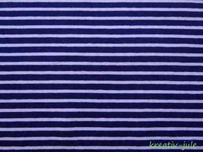 Streifenjersey dunkelblau/hellblau Ringeljersey