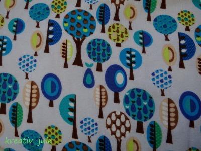 Jersey Bäume Birnen Äpfel blau, grün