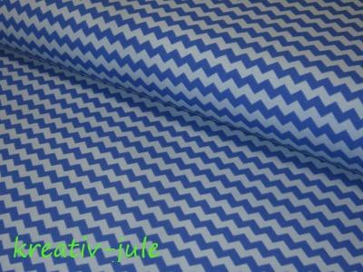 Jersey Chevron Baumwolljersey blau-hellblau