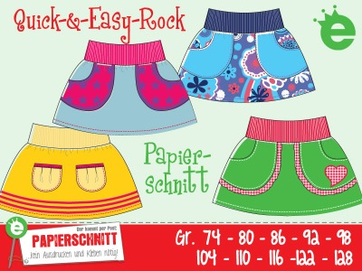 Papierschnittmuster Quick-&Easy-Rock Gr 74-128