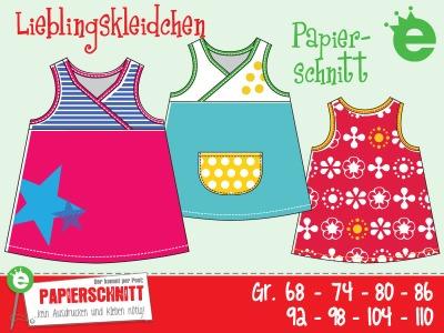 Papierschnittmuster Lieblingskleidchen Gr.68-110