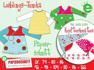 Papierschnittmuster Lieblings-Tunika Gr. 74-122