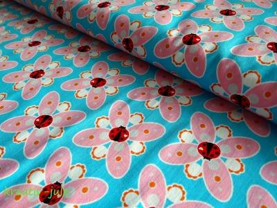 Popeline Summerdream von Cherry Picking türkis