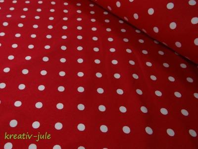 Jersey Punkte Dots Tupfen rot