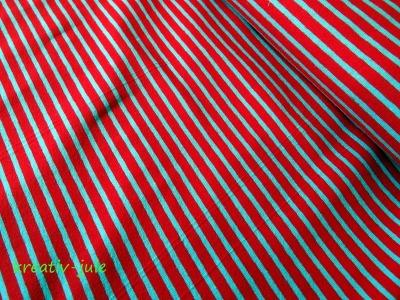 Streifenjersey rot/hellblau Ringeljersey