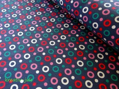 Jersey Kringel Punkte Tupfen rosa,weiß,petrol