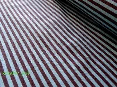 Jersey Ringel Streifen gestreift blau türkis grau