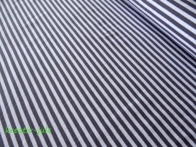 Streifenjersey grau anthrazit weiß Ringeljersey