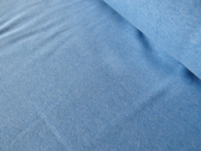 Bündchen hellblau aqua meliert melange pastell