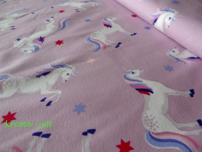 Jersey Einhorn Pferd rosa altrosa türkis Sterne