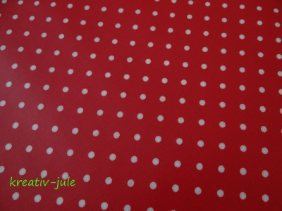 Wachstuch Punkte rot 50x70cm
