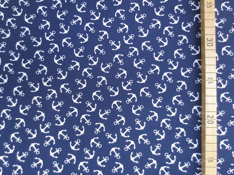 Baumwollstoff Anker EUR/m dunkelblau 100 Baumwolle