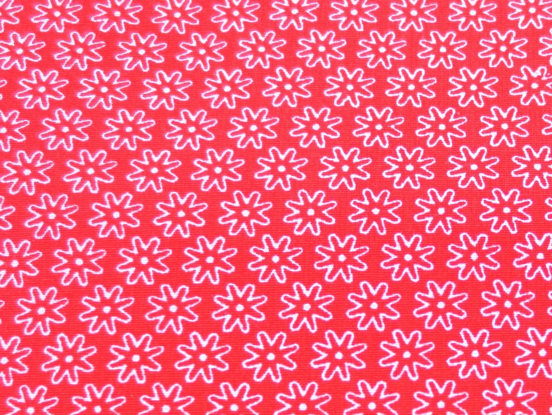 Stoff Blumen rot - 100 Baumwolle