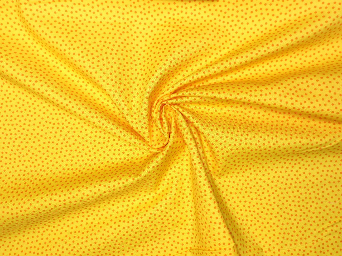 Baumwollstoff Pünktchen gelb Westfalenstoffe 100 Baumwolle