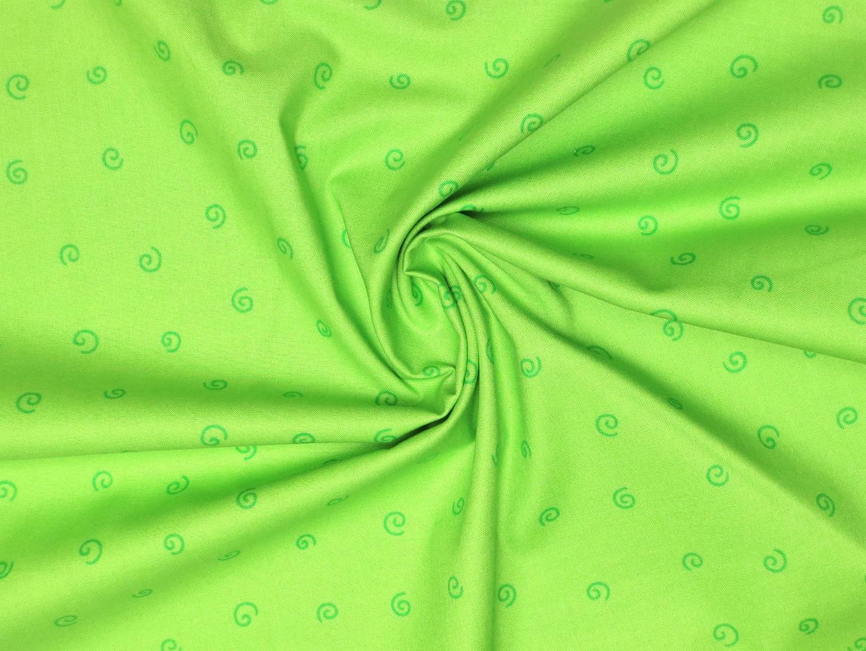 Baumwollstoff Kringel EUR/m grün Westfalenstoffe 100