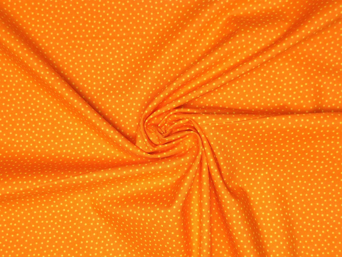 Baumwollstoff Pünktchen orange Westfalenstoffe 100 Baumwolle