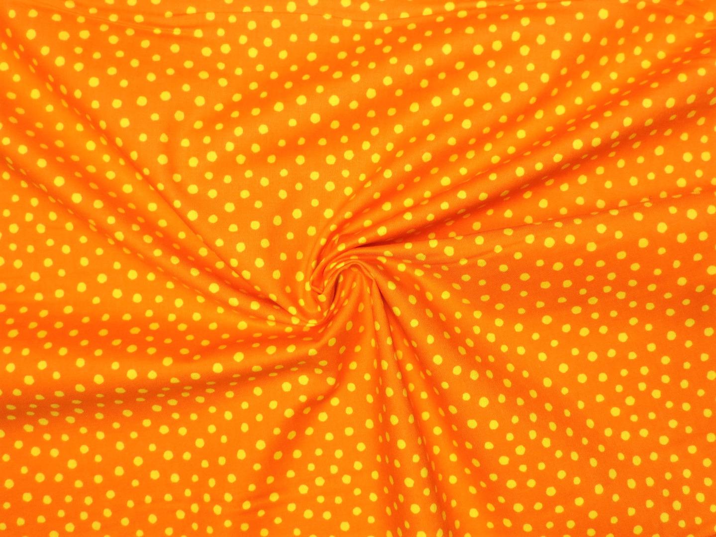 Baumwollstoff Punkte EUR/m orange Westfalenstoffe 100