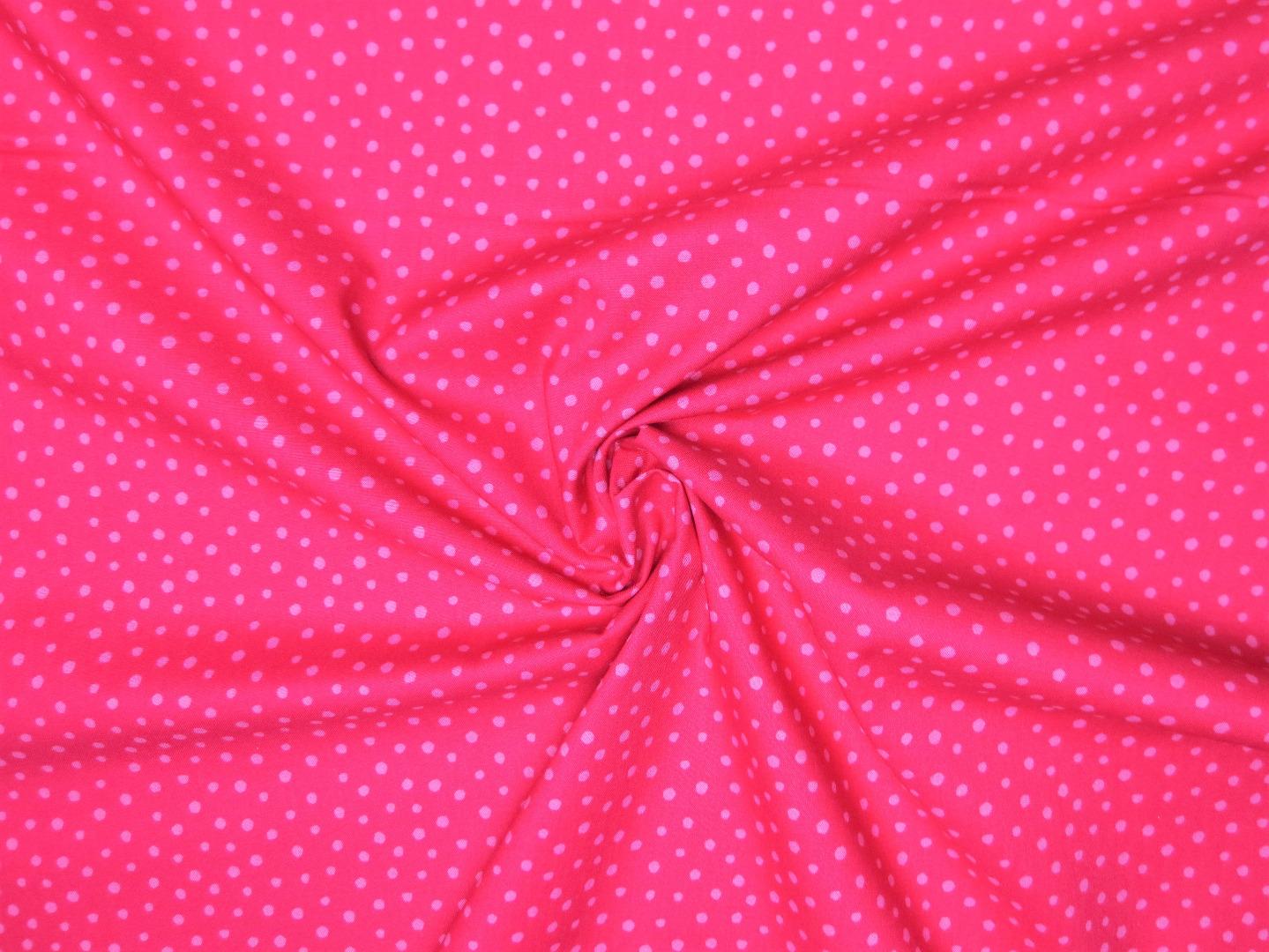 Baumwollstoff Punkte EUR/m pink-rosa Westfalenstoffe 100