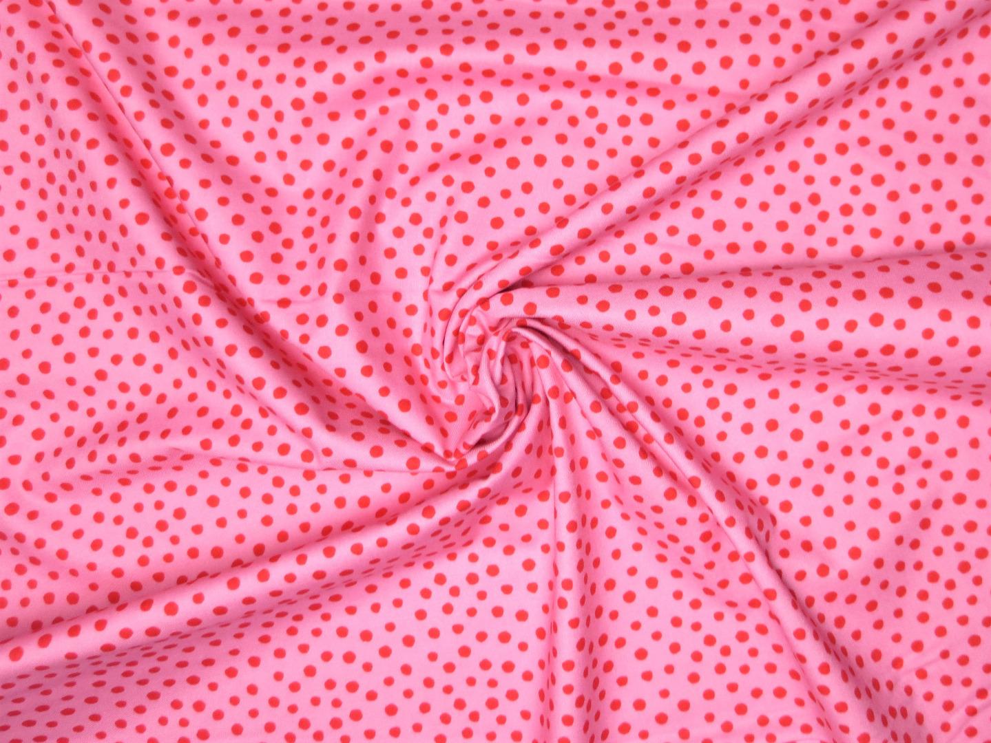 Baumwollstoff Punkte rosa-rot Westfalenstoffe 100 Baumwolle