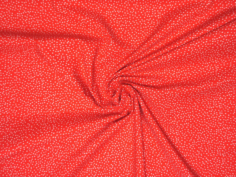 Baumwollstoff Pünktchen EUR/m rot-weiß Westfalenstoffe 100