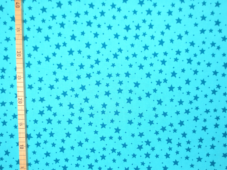 Baumwollstoff Sterne türkis Westfalenstoffe 100 Baumwolle