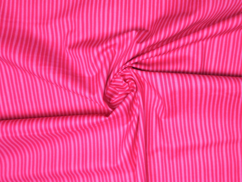 Baumwollstoff Streifen EUR/m pink-rosa Westfalenstoffe 100