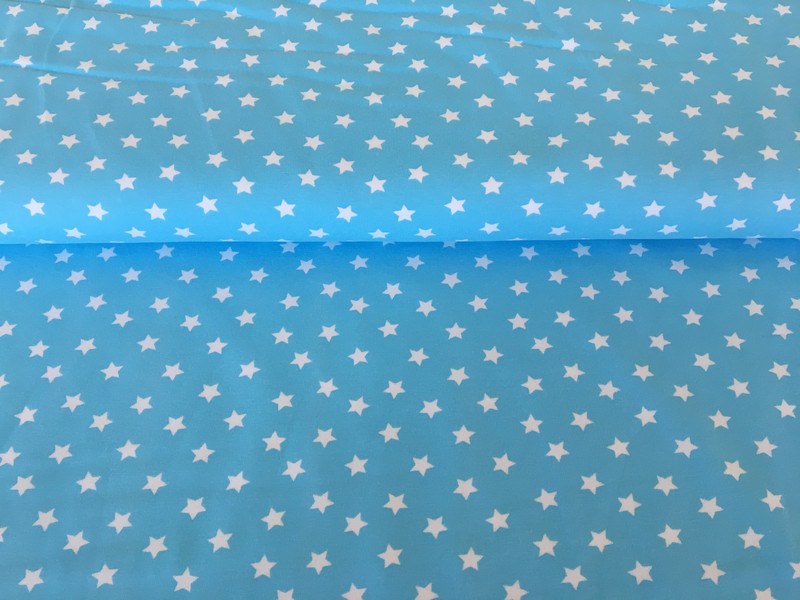 Jersey Sterne hellblau/weiß 2