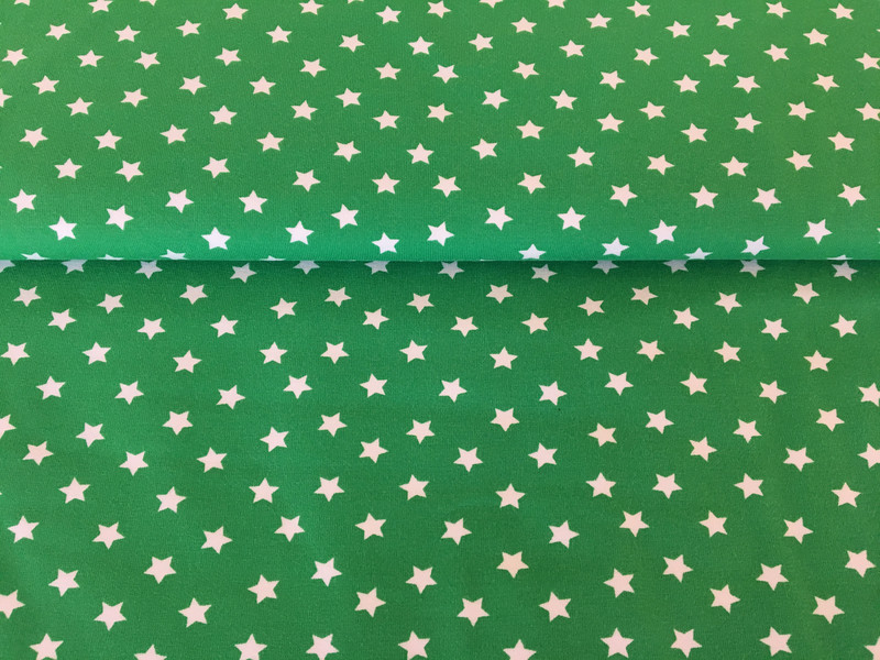 Jersey Sterne grün/weiß