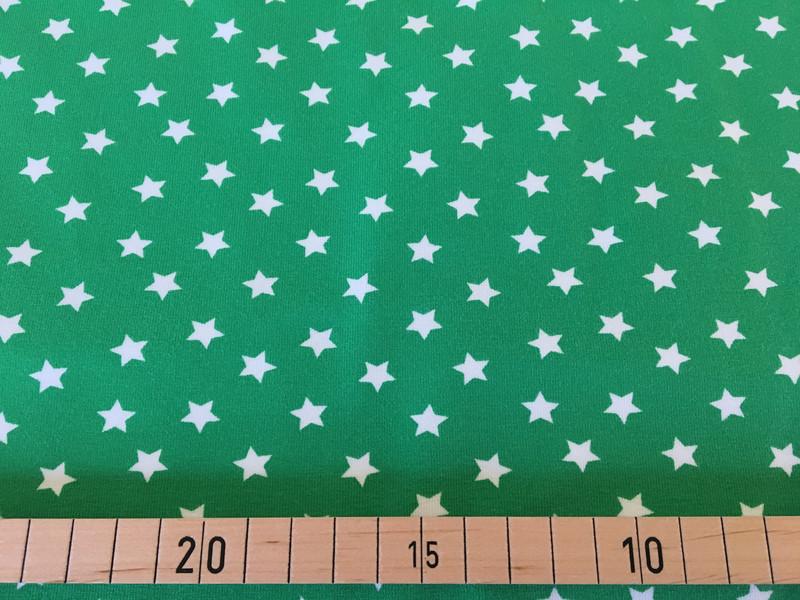 Jersey Sterne grün/weiß 2