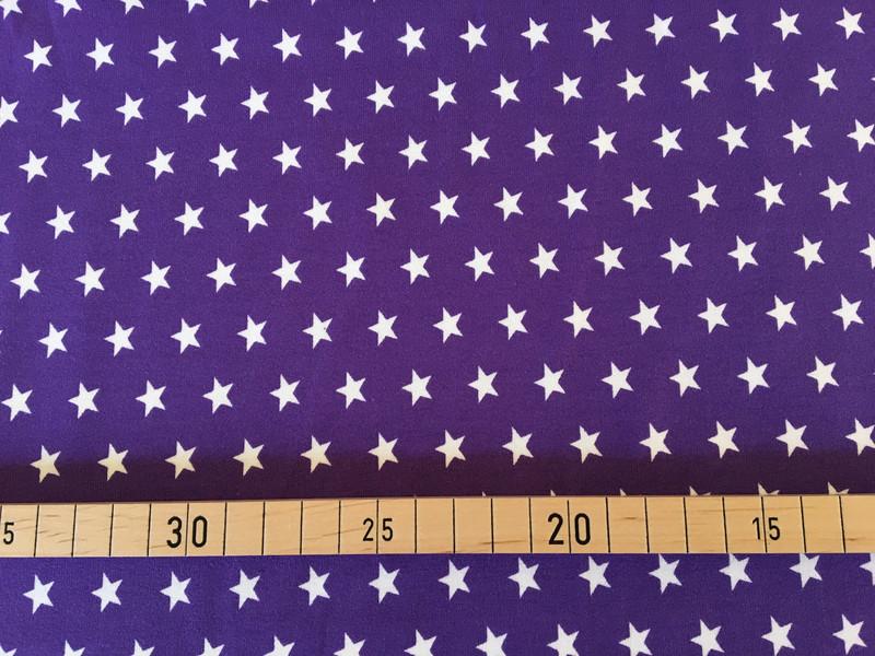 Jersey Sterne lila/weiß